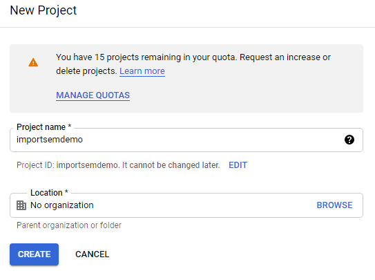 Google Cloud Function New Project Setup