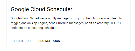 Google Cloud Scheduler Setup