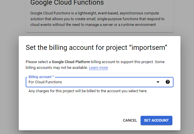 Google Cloud Platform Billing Account Setup