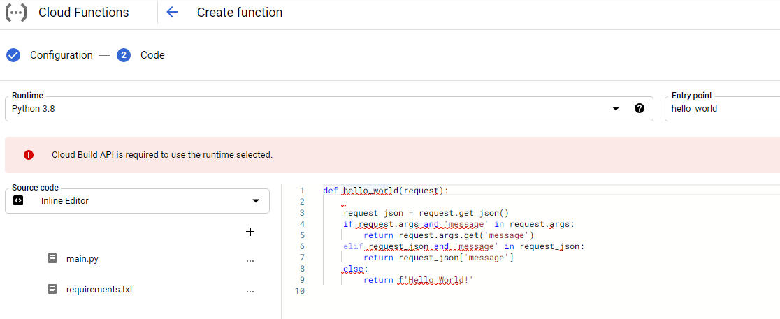 Google Cloud Functions Script Manager
