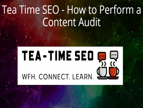 Greg Bernhardt Joins Webinar on How to Perform a Content Audit
