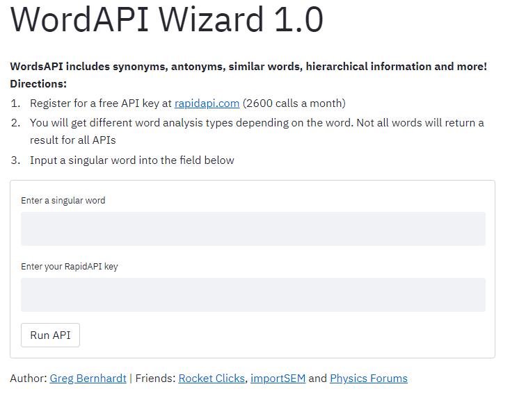 WordsAPI App