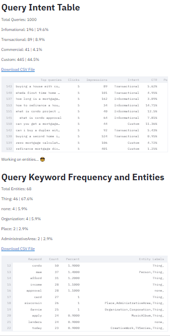 Query analysis tool